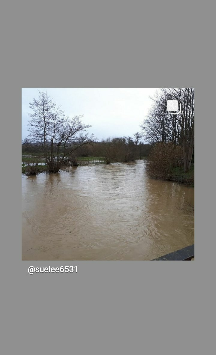 Flood alert update for middle Mole Cobham Fetcham Leatherhead. Barriers being installed as more rain expected.